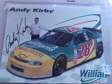 SIGNED!! ANDY KIRBY #28 8x10 POSTER WILLIAMS RACING