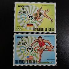 TCHAD POSTE AÉRIENNE PA N°141/142 JEUX OLYMPIQUES MUNICH 1972 NEUF ** LUXE MNH