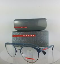 Brand New Authentic Prada Eyeglasses VPS 52H VHO-1O1 Blue-Silver 50mm Frame