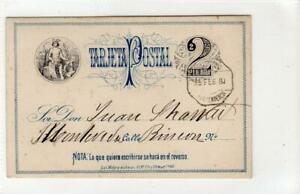URUGUAY: 1880 postal stationary postcard (C61517)