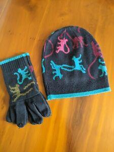 Kipling Monkey Beenie Hat And Gloves