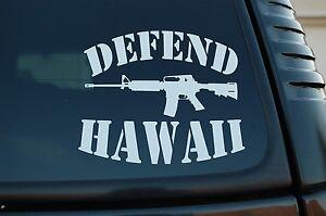 Defend Hawaii Vinyl Sticker Decal Hawaiian Aloha Car Pick Size/Color (V458)