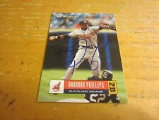 Brandon Phillips Autographed Signed 2005 Donruss #157 Card MLB Cleveland Indians