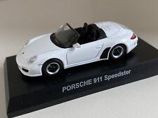 Kyosho '10 Porsche 911 (997) Speedster in Weiß 1/64 3inch OVP - selten