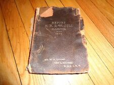 Report Railroad and Warehouse Commission State of Illinois 1903 Chicago
