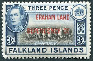 GRAHAM LAND 1944-5 3d black and blue SGA4 mint MH FG Flock of Sheep #A05