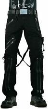 TRIPP BONDAGE STRAPS ZIPPER GOTHIC PUNK EMO BLACK GOTH JEANS PANTS IS674M