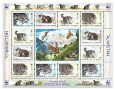 Tajikistan WWF Otocolobus Manul Wild Pallas's Cat Sheetlet of 12 Stamps Mint MUH