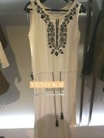 sale! BNWT ZARA BOHO Embroidery Maxi Dress Size XS S M L Beige