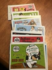 1968 Fleer Laughlin Baseball World Series 66-Card Set; EX/M Avg - NICE!