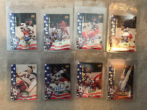 1980 MIRACLE ON ICE COMPLETE AUTOGRAPHED SET PROMO SERIAL #'d /300 HERB BROOKS