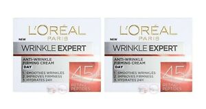 L'Oreal Paris Wrinkle Expert Anti-Wrinkle Hydrating Firming Day Cream 45+ 2 x 50