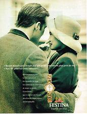 PUBLICITE ADVERTISING 025  1994  Les montres femme FESTINA