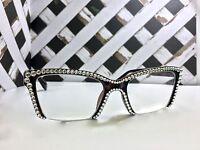 Reading glasses made with Swarovski Crystal Semi Rimless