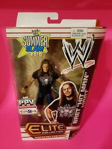 🔥🔥🔥 WWE Elite Bret Hit Man Hart figure Summer Slam TRU PPV Michael Cole🔥🔥🔥