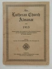 Lutheran Church Almanac 1913 Kopenhaver List Churches Periodical Ministers Phily