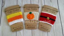 Handmade Crochet Coffee Cup Cozy/Sleeve/Holder Mason Jar Holder - Holiday Set Y