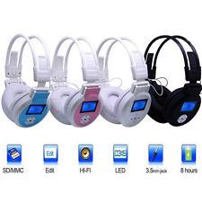CUFFIE MP3 STEREO DISPLAY LCD SD RADIO FM TF CARD CUFFIE CON SD