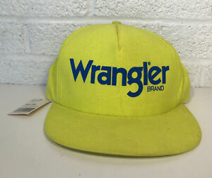 Vintage Wrangler Jeans Brand Snap Back Highlighter Yellow W Tag USA