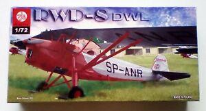 "Plastyk RWD-8 DWL 1/72 Scale model plane kit ""NEW"""