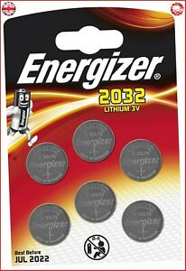 GENUINE ENERGIZER 6 X CR2032 3V LITHIUM COIN CELL BATTERY DL2032, BR2032 SB-T15