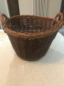 Large wicker baskets with handles