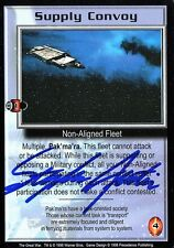 BABYLON 5 CCG Stephen Austin THE GREAT WAR Supply Convoy AUTOGRAPHED
