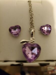 Amethyst Purple Necklace and Earrings