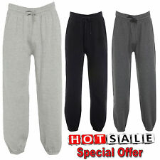 New Men's Jogging Bottom Warm Fleece Joggers Cuffed Bottom With Zip Pockets Size