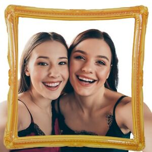 Way To Celebrate Inflatable Selfie Photo Frame, Picture Frame Props For Parties
