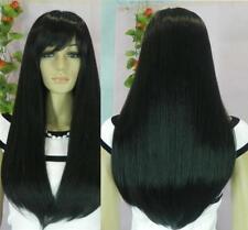 long pretty natural black straight health hair fashion wig wigs for women