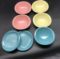 VTG BOONTON WARE MELMAC MELAMINE BOWLS & Plates 1105 1307 PINK  BLUE YELLOW
