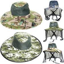 Fishermans Bucket Hat Wide Brim Sun Cap Summer Outdoor Hiking Camping Boonie Hat