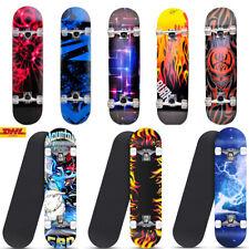 Skateboard Komplettboard 80x20 cm Holzboard für Anfänger mit ABEC-5 Kugellager 1
