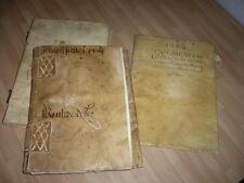 ESPAGNE DOCUMENTS ANCIENS 1628 1668   DILIGENCIA LUGARES DE LOS MONTES FABRE EL