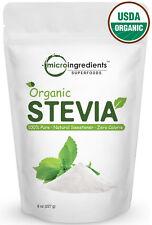 Micro Ingredients Natural Organic Stevia Powder Zero Calorie Sweetener 8 Ounce