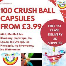 100* Crushball Capsules Cigarette Filter Flavour Crush balls capsules mint ice
