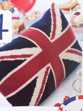 J1 Knitting Pattern Union Jack Cushion Dk 56x35cm