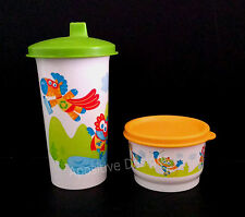New Tupperware Early Age Baby Eco Feeding Mealtime 2 Piece Snack Juice Set