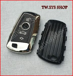 Key Case Cover for BMW ☆ Full Shell ☆ F10,20,30 ☆ SOFT TPU ☆ Keyless ☆ SILVER