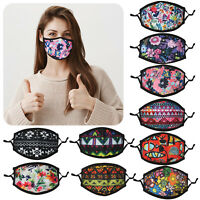 Ladies Girls Teenager Cotton Face Mask Washable Adjustable Double Layer Covering