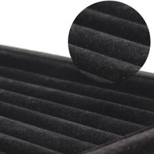 Soft Velvet Ear Stud Finger Ring Jewelry Display Tray Holder Case Box Black #A