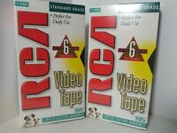 NEW Lot of  2 RCA T-120H Standard Grade 6-Hour VHS Blank Empty VCR Video Tapes