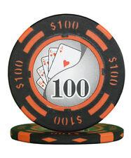 50pcs 14g Yin Yang Casino Table Clay Poker Chips $100