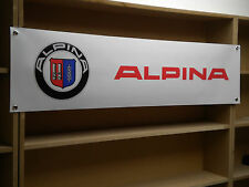 ALPINA BMW BANNER Car Workshop Garage display  D3 XD3 B3GT3 D5 B5 B6 B7 Bi Turbo