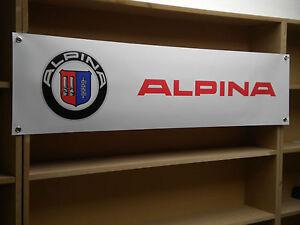 ALPINA Car banner Show sign workshop garage display poster