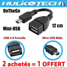 Adaptateur Mini USB 5-PIN -  USB Femelle -Cable OTG Convertisseur pour Tablettes