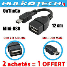 Câble mini usb mâle vers usb femelle OTG pour autoradios, tablette multimedia pc