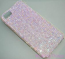 12ss CRYSTAL AB Rhinestone Bling Back Case for iPhone 5 5S w/ Swarovski Elements