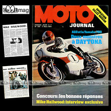 MOTO JOURNAL N°159-b YAMAHA TZ 700 AGOSTINI AGO 1974 ★ POSTER MICHEL ROUGERIE ★